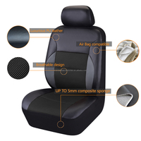 Car seats pu leather seat covers & supports accessories set front & rear car seat cover set auto cushions