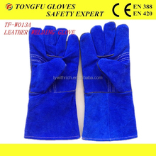 Cheap Long cow split leather welding gloves/ heat resistant gloves /Welding glove BC grade