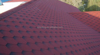 High quality mosaic asphalt roof tile/cheap building materials