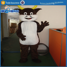 Brown bull with large horns beef promotion event professional rodeo cartoon character high quality custom mascot costume