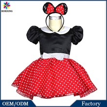 Fashion Cartoon Mouse Costume With Ears and Mini Skirt Easter Outfits New Model Children Girl Halloween Cosplay Fancy Dress