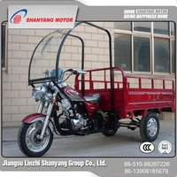 Customized design 150cc cargo tricycle with cabin / three wheel cargo tricycle