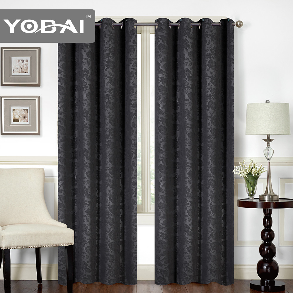 Thermal Insulated Room Darkening Rich Quality of Textured Linen Like Bedroom blackout curtain