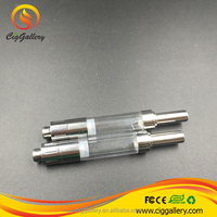 Ciggallery newest metal drip tip glass tube replacable coil 510 thread 1ml clearomizer