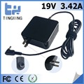 ul plug High quality factory Laptop Adapter Tingxing brand for asus 19V3.42A65W Notebook charger4.0*1.35MM