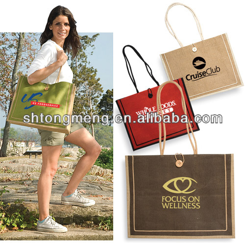 Factory price wholesale Personalized tote bag Milan Jute Tote