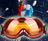 Color Motorcycle Bike ATV Motocross Ski Snowboard Off-road Goggles FITS OVER RX GLASSES Eye Lens