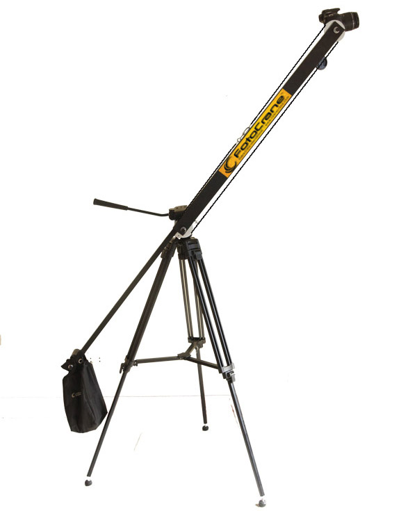 5 foot telescopic, portable camera jib crane for DSLR, Smartphone, GoPro with Bag set