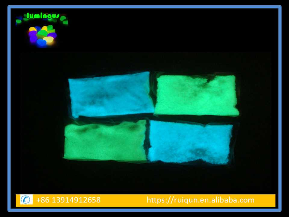 Glow Sand/Sand Glow in the Dark With High Quality/Glow Pigment With Big Particle Size