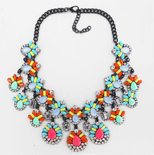 fashion resin statement necklace 2016 turkish jewellery wholesale
