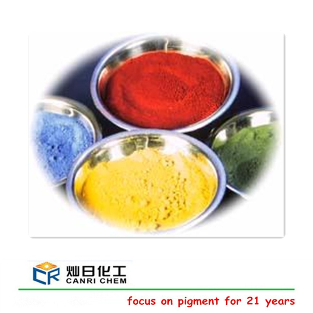 ISO red iron oxide factory sell yellow iron oxide red black blue green color for floor tile /brick /cement paint