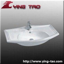 bathroom ceramic sanitary ware hand painted automatic outdoor water basin