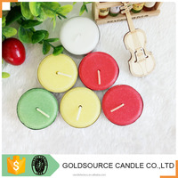 decorative tealight candles with paraffin wax