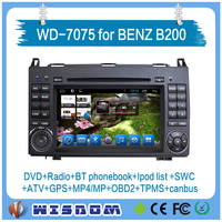 2016 Wisdom car radio dvd gps navigation system for mercedes benz b200 android with car multimedia video fm radio CANBUS swc