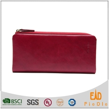 CW897-002- women Leather Wallet With Zip Pocket Genuine Leather Wallet Factory Supplier purse