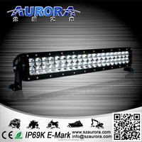 "AURORA IP69K Waterproof 20"" double row 200w led off road light bar"