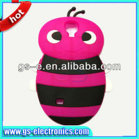 High quality 3D cute design bee silicone case for samsung galaxy s4