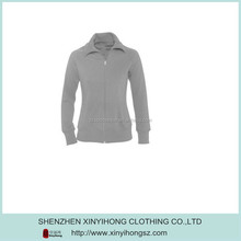 Ladies classical style urban wear gray turn-down collar jacket