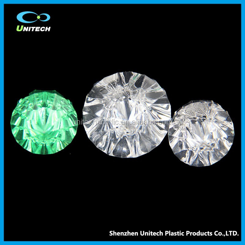 UT-HDB02 Clear Transparent Diamond Shape Acrylic Ball