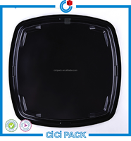 cheap price small disposable plastic divided food tray for sushi trays