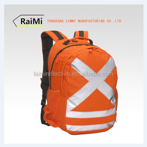 Night Visibility Backpack Manufacturers China Factory customized cheap fancy reflective backpack bag