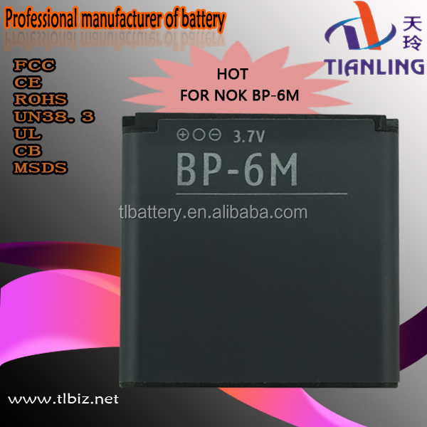 Good quality mobile Bp-6m Battery For Nokia N73 mobile Phone Battery