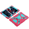 Heavy Duty Hard Shock-Resistant Hybrid Cover Dual Layer Belt Clip Holster Kickstand shock resistant silicon case for ipad air 2