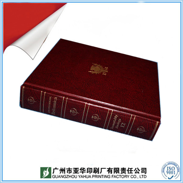 Supply laminate hardcover book, hardcover leather book