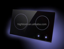 Black glass ceramic with silk screen printing for induction cooker