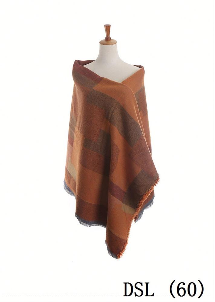 Plumetis big scarves & poncho with flower printed