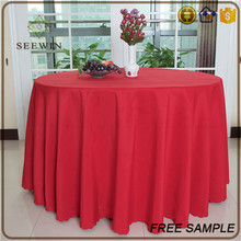 cheap elegant polyester fabric washable round fitted size vinyl tablecloth