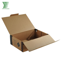 Heavy Duty One Bottle 750ml Wine Bottles Corrugated Paper Boxes with Custom Logo Printed