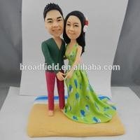 Popular custom polymer clay bobble head cake topper wedding birthday gift