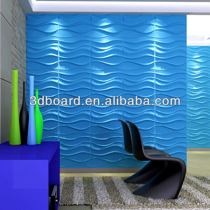 Plastic tv background wall paneling textured wave board 3d - Plastic textured wall panels ...