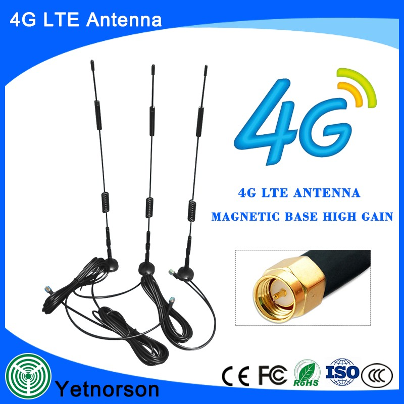 850/900/1800/1900/2100 MHz Antenna GSM GPRS 3G 4G High Gain 7dBi Magnetic Antenna