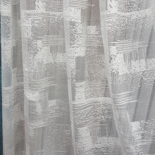 Factory wholesale fancy net fabric chiffon curtain material satin fabric