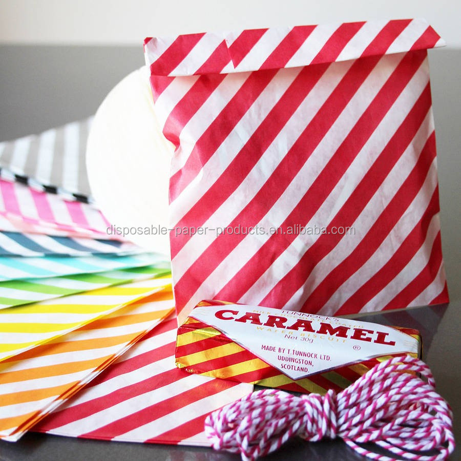 Diagonal Stripe FAVOR BAGS MEDIUM ZIG ZAG paper bags party favour giveaway Paper buffet Diagonal Stripe Party Goody Bags