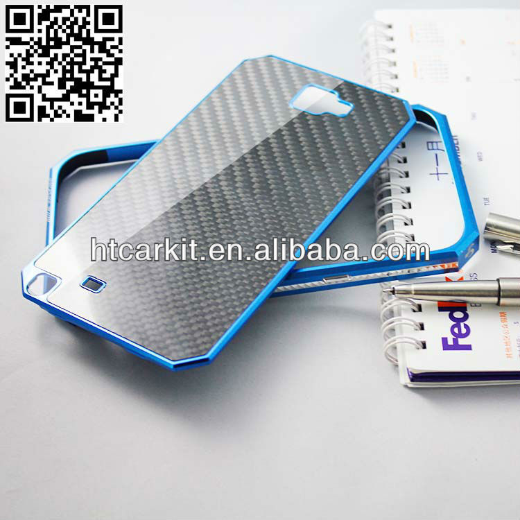 Top quality Carbon Fiber Aluminum Metal Cell Phone Case For Samsung Galaxy Note 2 N7100