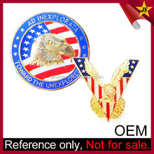 Wholesale promotional make metal products souvenir blue eagle logo