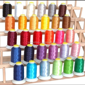 Polyester royal embroidery machine thread 500m 1000m brother 63color for home machine and commercial machine