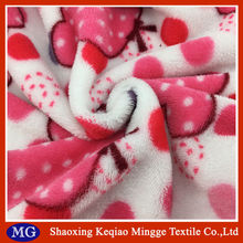 Mingge knit textile 288F textile cloth fabric coral fleece fabric