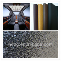 PVC rexine leather for car interior decoration, good quality synthetic leather