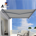 Commercial Outdoor Remote Control Electric Full Cassette Motorized Retractable Awnings for garden with LED light