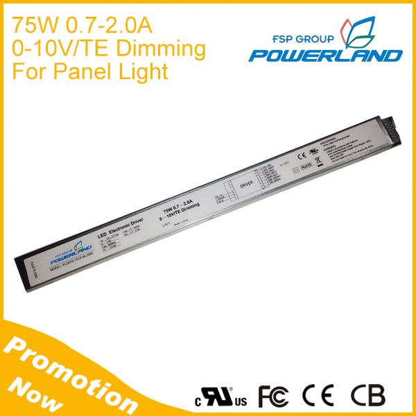 Super Slim 75W 2A 0-10V Dimming LED Driver with External Resistor Current Setting