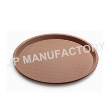 Durable plastic round fast food tray non-slip serving tray