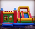 big bouncy slide/inflatable bounce house with slide