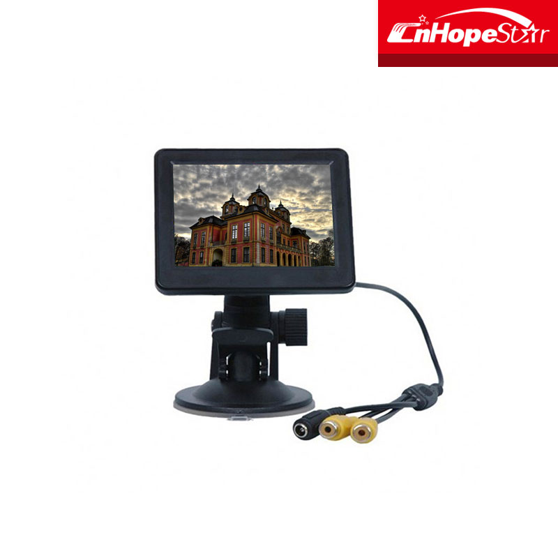 3.5 inch car mini lcd car headrest monitor white/black color optional