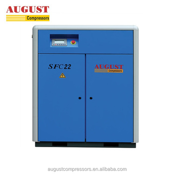 SFC22A 22KW/30HP 7 Bar AUGUST Stationary Air Cooled Screw Air Compressor