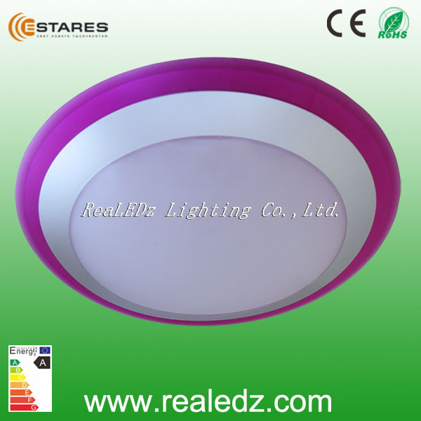 2016Hot !!! High quality best price printing logo round surface mounted Led ceiling light GRBW 16W/25W(CE,ROHS) DIY paste cover