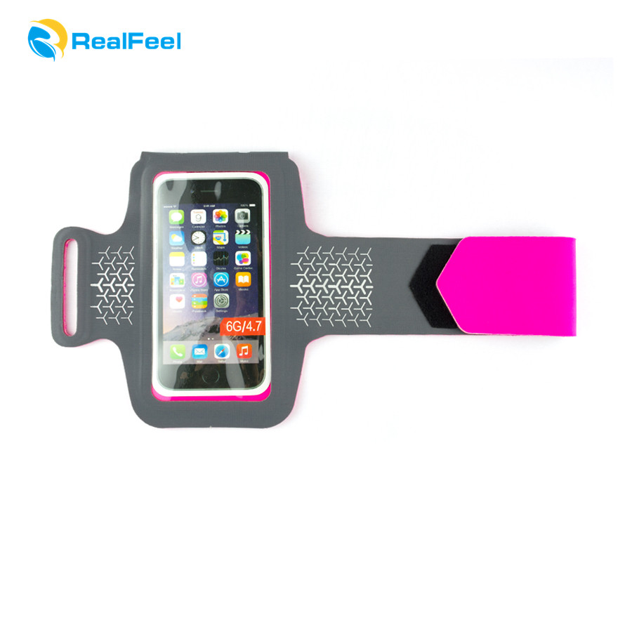 mobile phone accessoriesh high quality cell phone reflective stripe sport armband